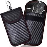 2 PACK Small Faraday Pouch For Car Keys, Car Key Signal Blocking Bag For Car, RFID Key Pouch Faraday Bag for Keyless Car…