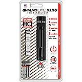 Mag-Lite XL50-S3016 LED zaklamp XL50, 200 lumen, 12 cm zwart met 3 modi en eindkapschakelaar