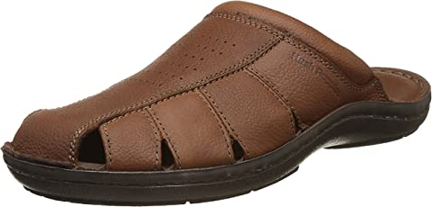Hush Puppies Men's New Decode Close MUL Leather Hawaii Thong Sandals