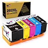 ONLYU Cartucho de Tinta Compatible Reemplazo para Epson 202XL 202 XL para Epson Expression Premium XP-6000 XP-6005 XP-6001 Xp