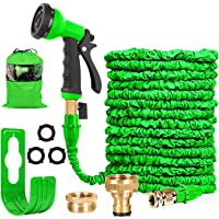 HOMOZE Hose Pipe Expandable Garden Hose Pipe 100FT Expanding Flexible Hosepipe With Brass Fittings/Quick Connector/8…