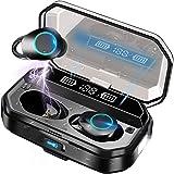 Auriculares Inalámbricos Bluetooth 5.0 con linterna LED, IPX7 Impermeable Sport Auriculares con Mic/120 Hrs/HD Estéreo/Bajo P