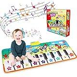Alfombra de Piano, Alfombra Musical de Teclado, Alfombra Piano de Animales para Niños Niñas, Alfombrilla Musical Estera deTec