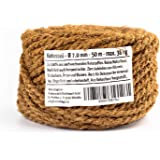 Humusziegel Jute Rope Roll - Coconut Fibre Natural Jute Twine String - Strong Brown String for Crafts, Garden 7mm - 50m