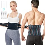 Back Support Brace, Mercase Breathable Mesh Lumbar Support Belt with Replaceable Support Stays for Lower Back Pain Relief for