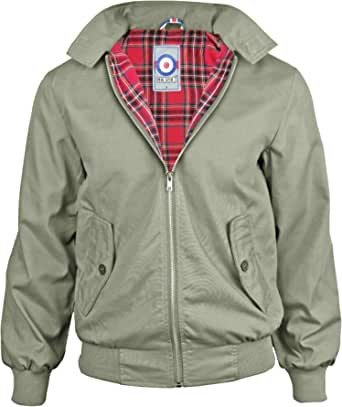 Mens Classic Harrington Mod Coat Indie Skin Vintage Scooter Jacket Size