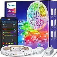 Govee RGBIC LED Strip 5m, LED Streifen Bluetooth, Musik Sync, Segmentcontrol, Farbwechsel, 64 Szenenmodus, Steuerbar via…