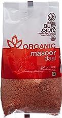 Pure & Sure Organic Masoor Dal, 500g