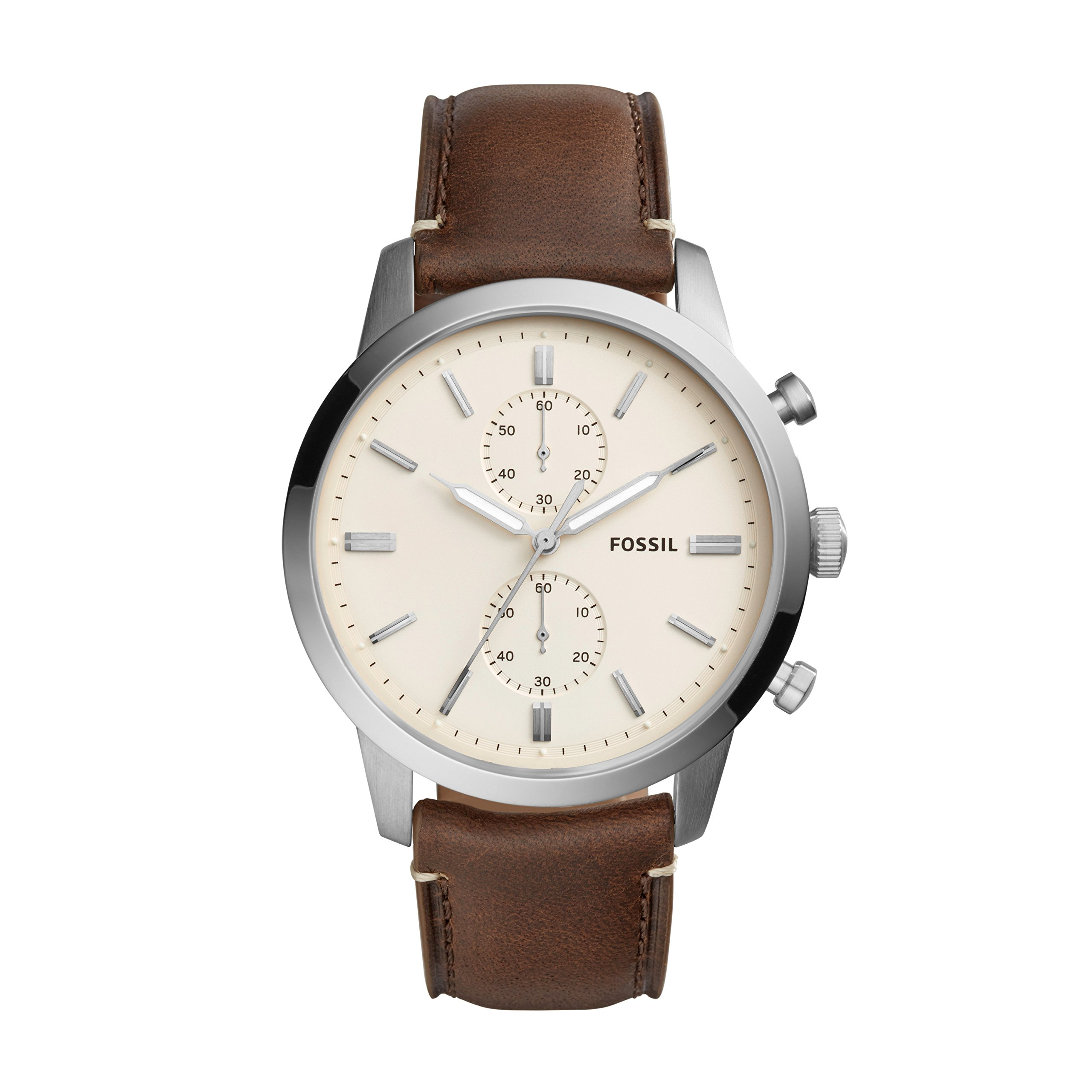 Fossil Men's Analogue Quartz Watch with Leather Strap FS5350
