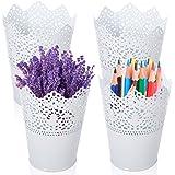 Multifonction Pot de Fleur,Pot de Fleurs Vase Pot à Crayons,Stylo Organisateur de Pinceau de Maquillage,pots à crayons en pla