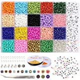 Dsaren 3118 Stück Perlen Zum Auffädeln Erwachsene Kinder Perlen Set 4mm Farben Perlen Buchstabenperlen Buchstaben Perlenschmu