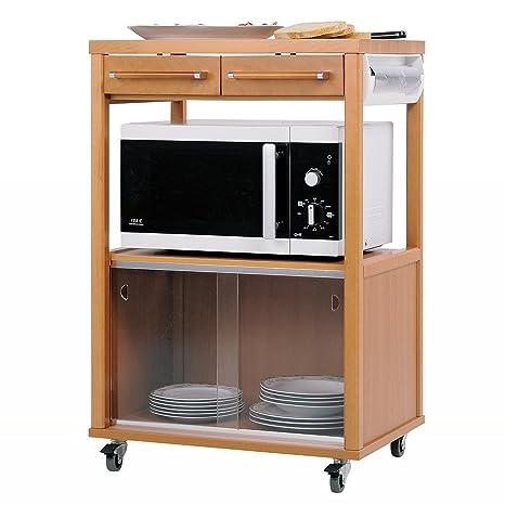 Foppapedretti benchef carrello da cucina, in legno, colore bianco ...