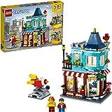 LEGO Creator 3in1 Negozio di Giocattoli - Pasticceria - Fioraio, con Razzo-Giostra Funzionante, Set di Costruzioni, 31105