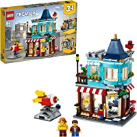 LEGO 31105 Creator 3-in-1 Townhouse Toy Store, Cake Shop, Florist Building Set, with Working Rocket Ride