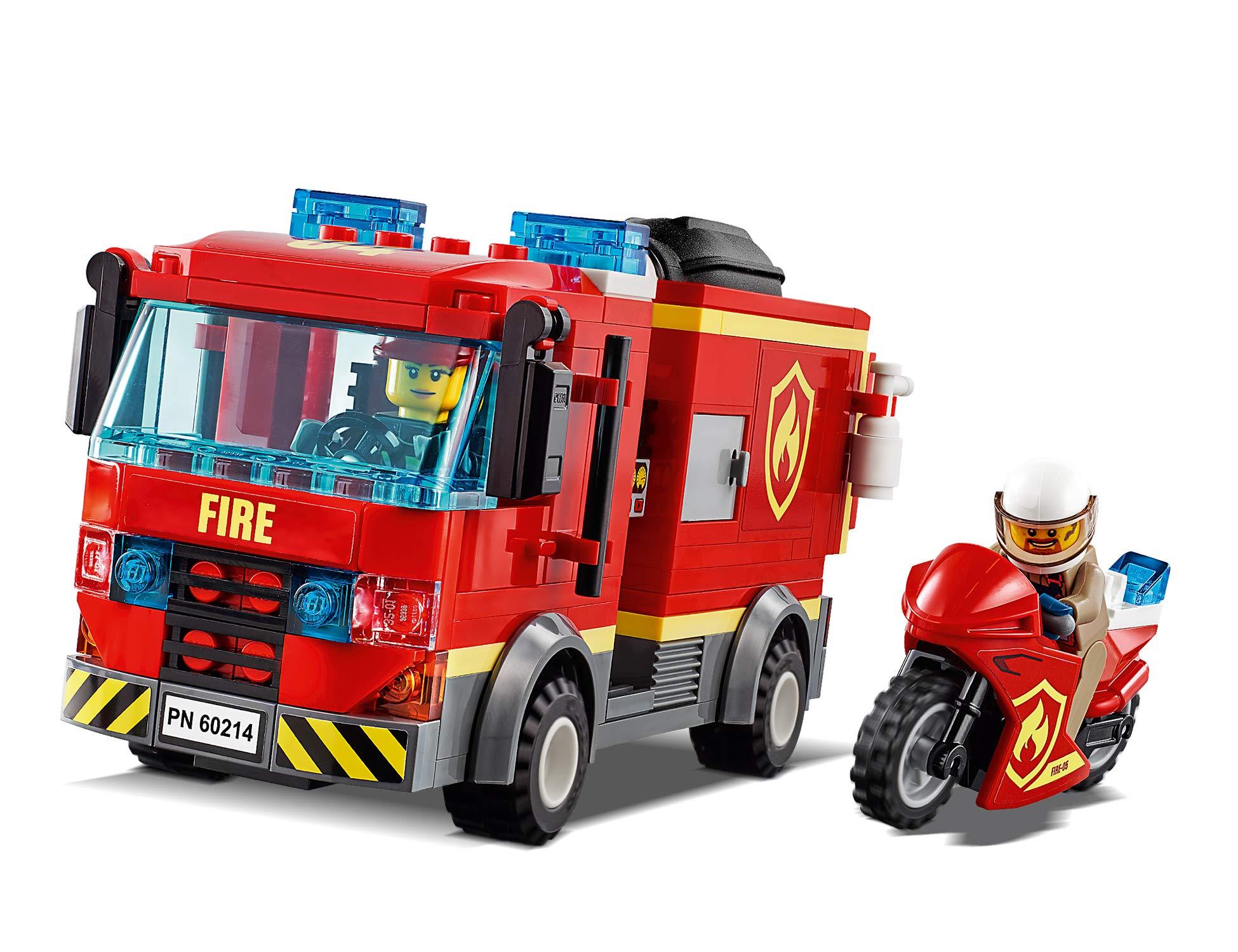 LEGO City Fire Fiamme al Burger Bar con 3 Minifigures, Una Autopompa dei Pompieri con Lancia Elementi Acqua, Set di… 4 spesavip