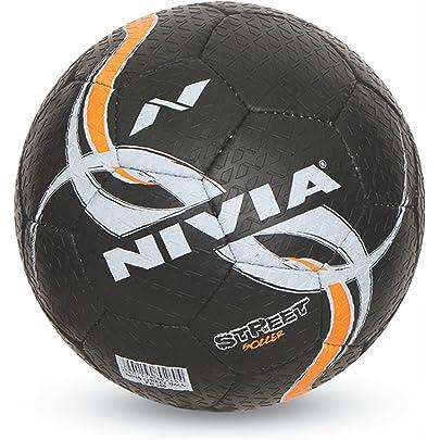 Nivia Street Rubber Football, Size 5  Black
