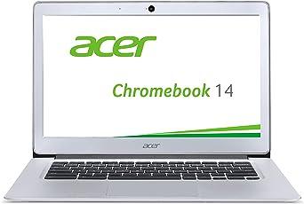 Acer Chromebook 14 CB3-431-C6UD 35,6 cm (14 Zoll Full HD IPS matt) Notebook (Intel Celeron N3160, 4GB RAM, 32GB eMMC, Intel HD Graphics, Google Chrome OS) silber