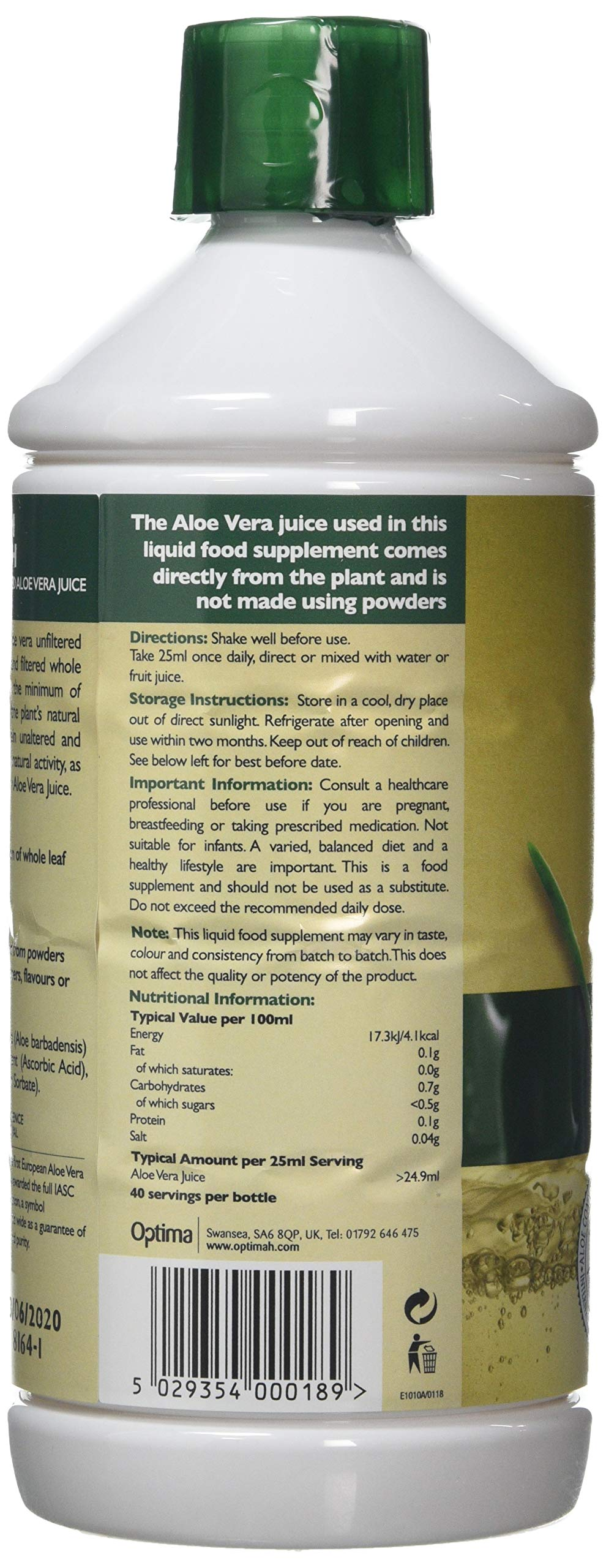 Aloe Pura Aloe Vera Juice Max Strength, 1L 4