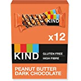 KIND® Bars, Healthy Gluten Free & Low Calorie Snacks, Peanut Butter & Dark Chocolate, 12 Bars, (Packaging may vary)