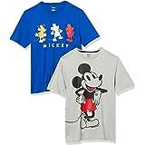 Amazon Essentials Disney 2-Pack Loose-fit Crewneck T-Shirt Fashion-t-Shirts Hombre (Pack de 2)