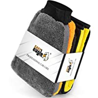 EASY EAGLE Guanto e Panno in Microfibra per Auto, 1200GSM Panno Asciugatura e Wash Mitt per la Cura del Moto o la Casa