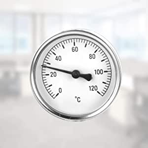 Lantelme Rohr Anlegethermometer Mit Feder 0 Bis 120 C Analog Thermometer Für Heizung Klima Wasser Rohre 8160 Baumarkt