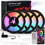 RIWNNI Striscia LED 20 metri, Bluetooth Strisce LED RGB Multicolore, Controllo App e Telecomando, Sincronizza con la Musica,