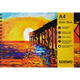 Amazon Brand - Solimo Sketching Book, 100 Sheets, A4 Size