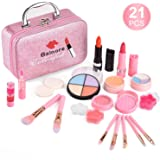 balnore 21 Piezas Set de Maquillaje Niñas, Maquillaje Niñas Set Maletin, Juguetes para Chicas, Cosméticos Lavables, Regalo de