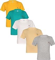 dongli Marvellous Half Sleeve Boys Tshirt (Pack of 5)