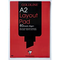 Clairefontaine Goldline Layout Pad, A2, 50 gsm, 80 sheets