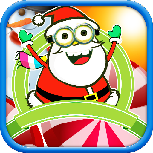 Feed Hungry Fat Santa Claus - Rolling Santa to crush candy and get Christmas gifts