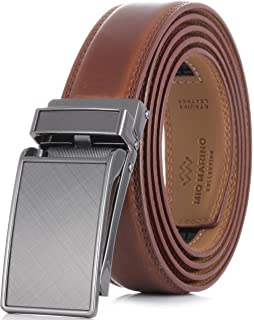 Tonywell Mens Genuine Leather Ratchet Belts with Distinctive