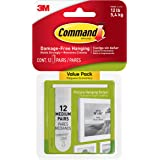 Command™ Medium Picture Hanging Strips, 12 Pairs, with Picture Level, 17204-12PK
