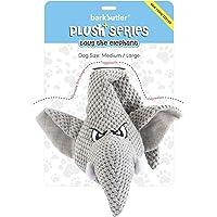 BarkButler's Destroy The Elephant - Squeaky Plush Tug Dog Toy Grey