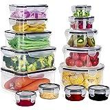 GoMaihe Récipient Boîte Alimentaire 28 pièce (14 récipient, 14 Couvercle), Plastique Boites Hermetiques avec Couvercles étanc