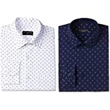 Diverse Men's Printed Regular Fit Full Sleeve Cotton Formal Shirt