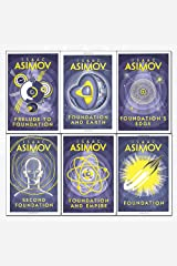isaac asimov foundation series 6 books collection set - (foundation,foundation and empire,second foundation,prelude to foundation,foundation and earth,foundation's edge) Paperback