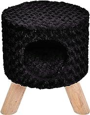 AmazonBasics Cat Condo Ottoman, Black