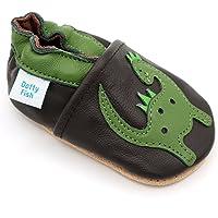Dotty Fish. Chaussures en Cuir Souple pour Les bébés et Les Tout-Petits. pour Les Garçons et Les Filles, avec des singes…