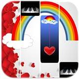 Rainbow Unicorn Heart Piano Tiles
