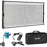 Neewer Pannello Luce LED Dimmerabile con Guscio in Metallo, 1320 Bulbi LED da 3200-5600K, Alimentazione via DC Adattatore o B