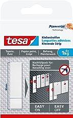tesa Klebestreifen zum Befestigen auf Tapete & Putz, 1 kg Halteleistung