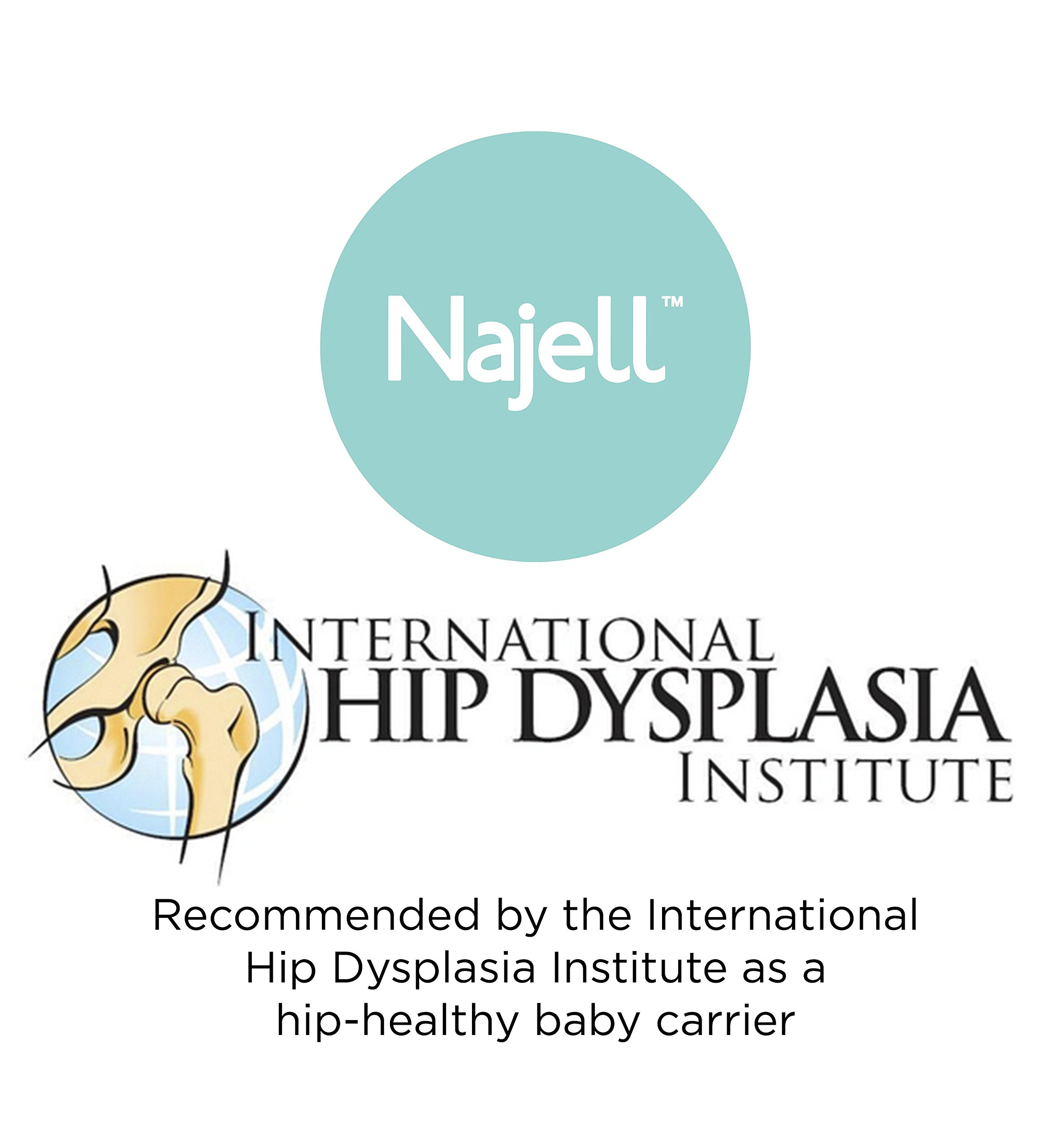 Najell Omni Active Mesh Baby Carrier with Hip Seat, Brilliant Black Béaba New-born ergonomic position and hips seat from 6 months. Market leading weight distribution with hip seat, recommended by the international hip dysplasia institute as a hip-healthy baby carrier Weight: 3, 5 to 15 kg and age: new-born to 3 years. 3