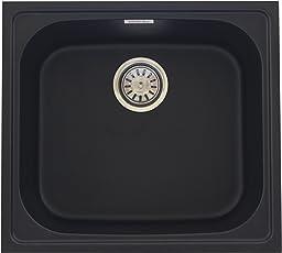 Zinzer Granite Kitchen Sink : Single Bowl - Black Color