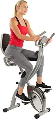 Sunny Health & Fitness Unisex Adult SF-B2721 Comfort Xl Folding Recumbent Bike - Silver, One Size