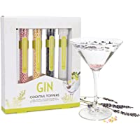 Modern Gourmet Foods, Miscele per Cocktail al Gin, Confezione Regalo Pimp Your Gin, Set di 4 (NON contiene alcool)