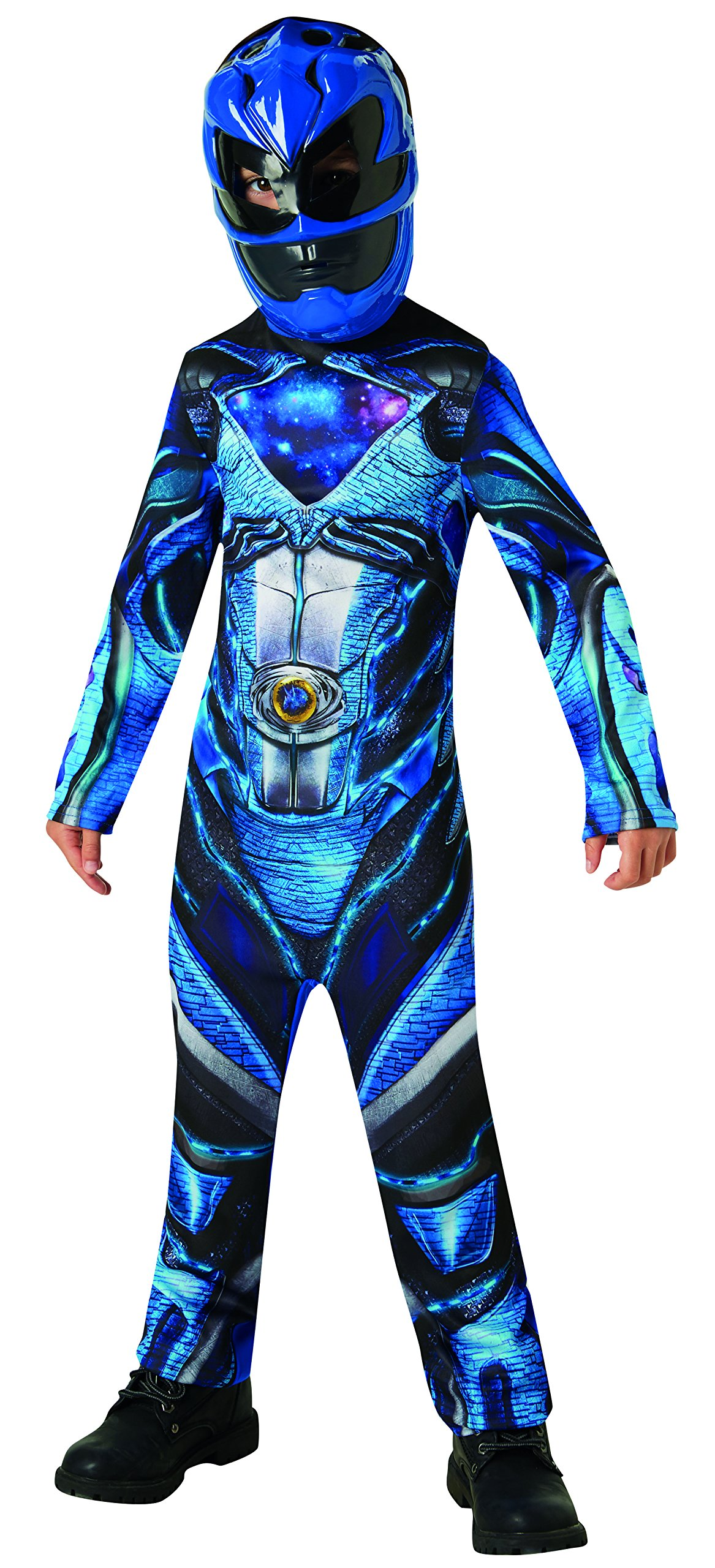 Rubie's Official Power Rangers Movie - Blue Ranger Classic Childs Costume Large, 7-8 years