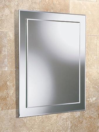 Bathroom Mirror 700x500 Glass 5mm Bevelled Edge 77 Kg Amazoncouk Kitchen Home