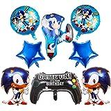 Globos de Sonic Decoracion Cumpleaños Sonic Hedgehog Sonic Frustrar Globos Sonic de Tema de La Fiesta de Globos Decoración 8P
